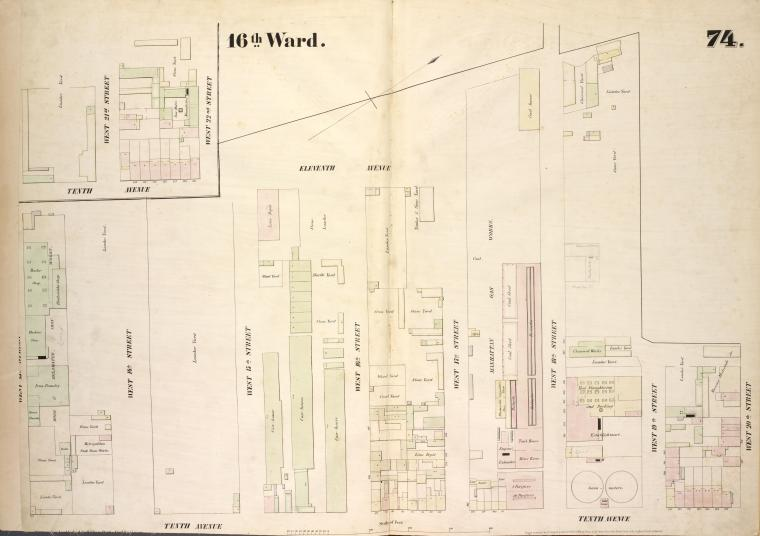 [Plate 74: Map bounded by Eleventh Avenue, West 20th Street, Tenth Avenue, West 13th Street.]