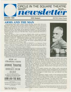 CITS newsletter, Spring 1985, 34th season