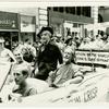 Bishop Robert Clements, Quentin Crisp, John Noble, New York Gay Pride March, 1982 June