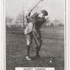 Harry Vardon. Top of swing- half-iron shot.