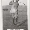 Harry Vardon. Finish of swing after drive.