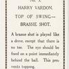 Harry Vardon. Top of swing - brassie shot.
