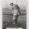 Harry Vardon. Top of swing - mashie shot.