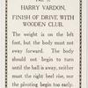 Harry Vardon. Finish of Drive with wooden club.