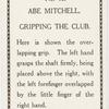 Abe Mitchell. Gripping the club.