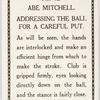 Abe Mitchell. Addressing the ball for the careful put.