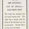 Abe Mitchell. Top of swing - half-iron shot.