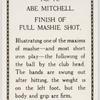 Abe Mitchell. Finish of full mashie shot.