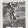 Abe Mitchell. Top of swing - full mashie shot.