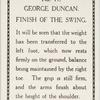 George Duncan. Finish of the swing.