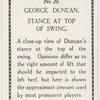 George Duncan. Stance at top of swing.