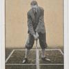Stance for brassie or driver against wind.