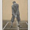 Stance for brassie or driver down wind.