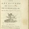 Commentaire historique [Title page]
