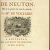 Elémens de la philosophie de Neuton. [Title page]