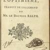 Candide, title page