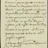 "Rare manuscript letter signed, in French, 8vo, Ferney, May 26, 1766. Docketed ""To Mr. the Duke of Praslin,"" Minister of the Navy (1766-1770)"