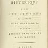 Commentaire historique sur les oeuvres de l'auteur de la Henriade, &c : avec les pieces originales & les preuves. [Title page]