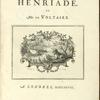 La Henriade, [Title page]
