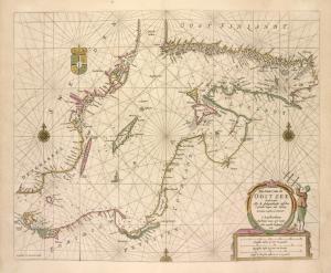 Pas-caart van de Oost zee.