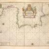 Pas-caart van Hispangien, vertoonende de Custen van Granade, Andaluzie, Algarve, Portugael, Galissien en Biscajen, met een gedeelte van Vranckrijck streckende van Heyssant tot de Straet van Gibralter.