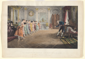 La classe de danse = A dancing class : Monsr. Coulon's Academy / etched by E. Salmon, [after a painting by] A. Ludovici.