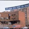 All People with AIDS Are Innocent (Banner at the Henry Street Settlement)
