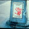 You've Got Blood on Your Hands, Ed Koch (Poster on the base of a traffic light)