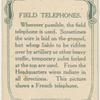 Field telephones.