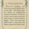 A field kitchen.
