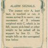 Alarm signals.