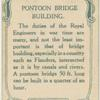 Pontoon bridge building.