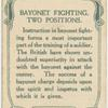 Bayonet fighting. Two positions.