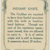 Indian's knife.