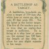 A battleship as target.