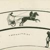 Chariot racing between goals, and decorative sphinxes