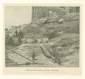 Work of excavation on the Acropolis.
