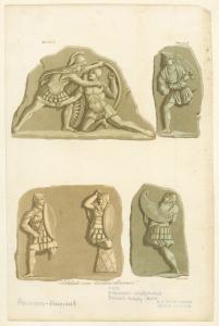 Etruscan sculptures.