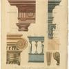 Modern profiles, of the Doric, Ionic & Corinthian orders.