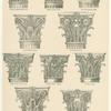 Corinthian and composite capitals.