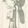 Eagle-headed figure, (N.W. palace, Nimroud)