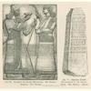 Trankopfer des Königs Assurnasirpal.  Aus Nimrud.  Alabaster.  Brit. Museum ; Schwarzer Obelist Salmanassars II. aus Nimrud.  Basalt.  Brit. Museum.  (Perrot.)