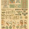 Objetos de adorno, tocado y calzado de los Babilonios y Asirios.