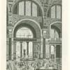 Mittelsaal der Caracallathermen (B) mit Ausblick auf den Schwimmsaal (C)