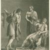 "Orestes and Pyrrhus, illustration from Act I, Scene 2 of ""Andromaque"" by Jean Racine."
