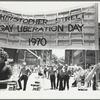 Men holding Christopher Street Liberation Day banner, 1970