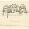 Tragic masks, from Pompeii