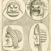 Roman comedy masks.