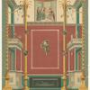 Wand im atrium der Casa di Modesto Pompeji