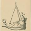 Lampe romaine, du temps de Juvénal, d'après Balduinus ; Semelle ou dessous de la même lampe.